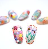 Flower and 3D Flower Nail Art