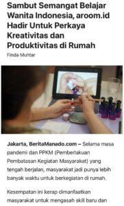 Media BeritaManado - Sambut Semangat Belajar Wanita Indonesia, aroom.id Hadir Untuk Perkaya Kreativitas dan Produktivitas di Rumah