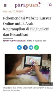 Media Parapuan - Rekomendasi Website Kursus Online untuk Asah Keterampilan di Bidang Seni dan Kecantikan