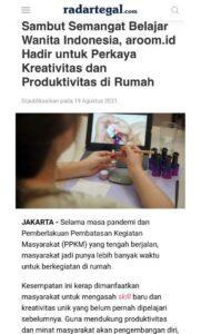 Media RadarTegal - Sambut Semangat Belajar Wanita Indonesia, aroom.id Hadir untuk Perkaya Kreativitas dan Produktivitas di Rumah